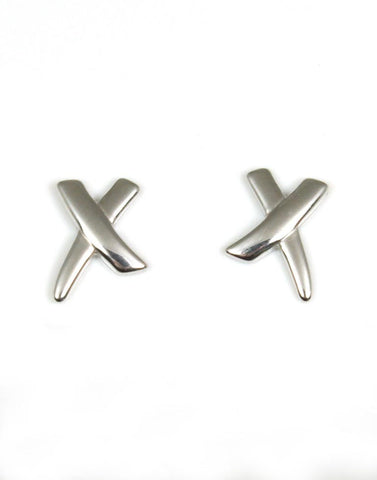 Modern X Design Earrings
