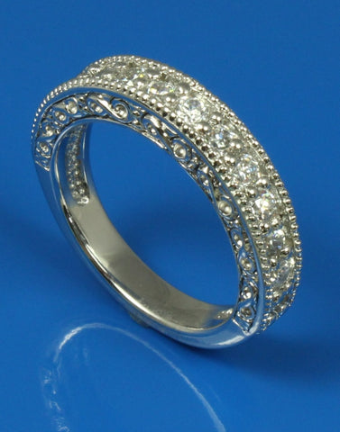 .91ctw Diamond Engraved Band