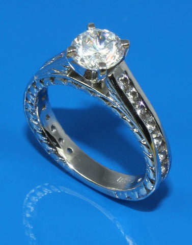 .84ctw Diamond Channel Ring Setting