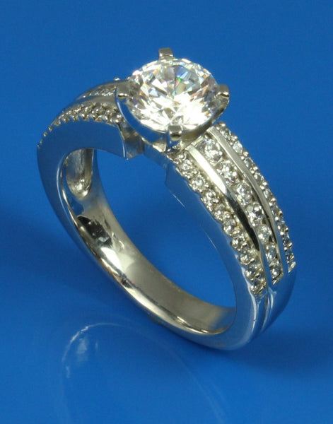 .52ctw Diamond Wide Engagement Ring Setting