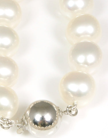 Large White Pearl Necklace Strand