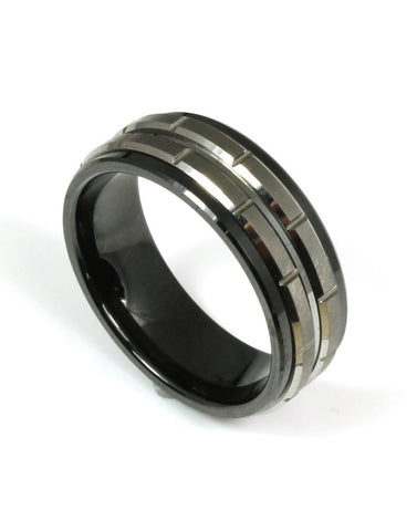 Ceramic and Tungsten Couture Band