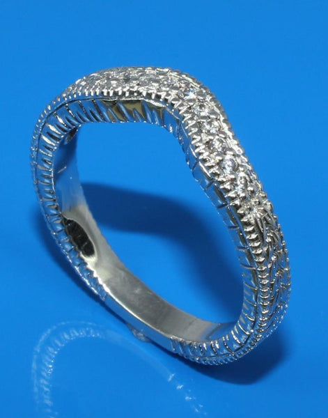 .12ctw Diamond Carved Band