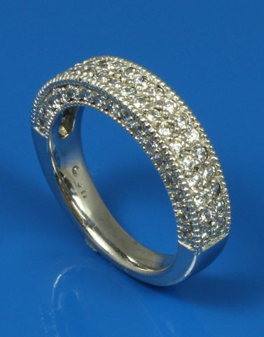 1.05ctw Diamond Engraved Band