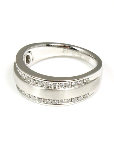 Double Row Diamond Anniversary Band by Allison Kaufman