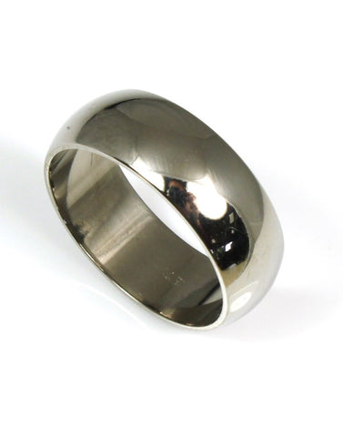Domed Titanium Band