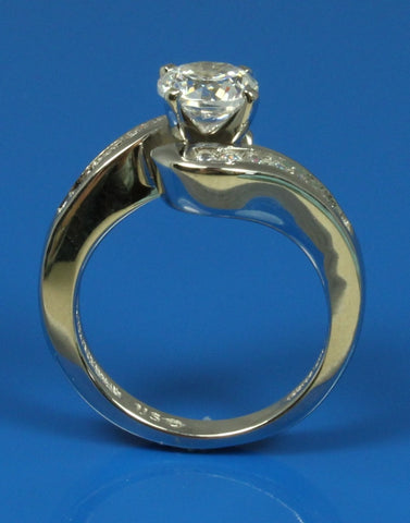 .28ctw Diamond Channel Bypass Engagement Ring Setting