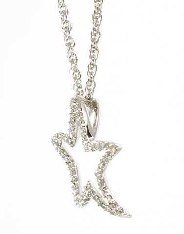 Diamond Starfish Necklace