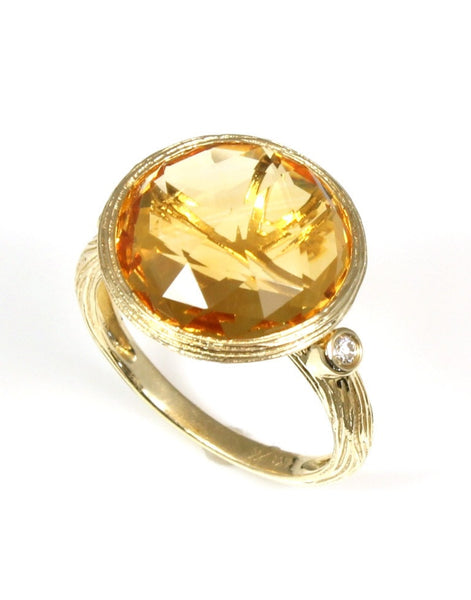 Citrine Rock Candy Ring by Allison Kaufman