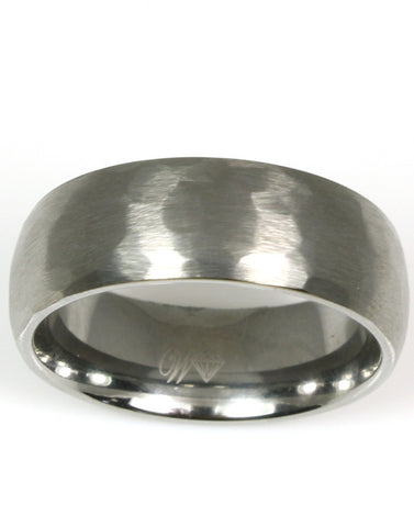 Hammered Tungsten Band
