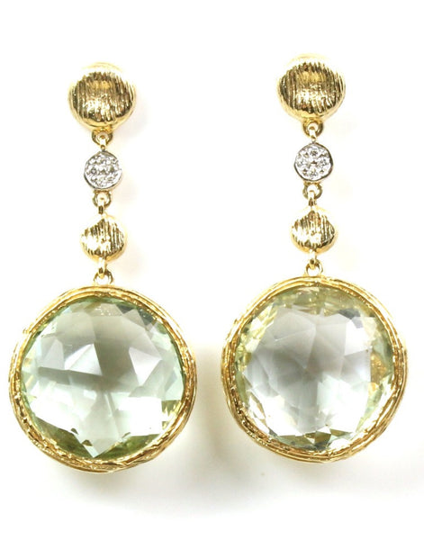 Green Quartz Rock Candy Earring