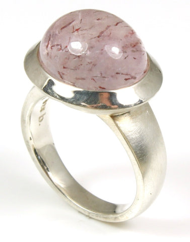 "Tourmalated ""Pink Love"" Quartz Ring by Bastian-Inverun"