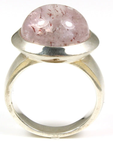 "Tourmalated ""Pink Love"" Quartz Ring"