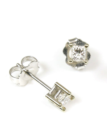1/4 Carat Princess Diamond Stud Earrings