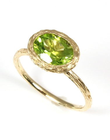 Petite Peridot Rock Candy Ring by Allison Kaufman