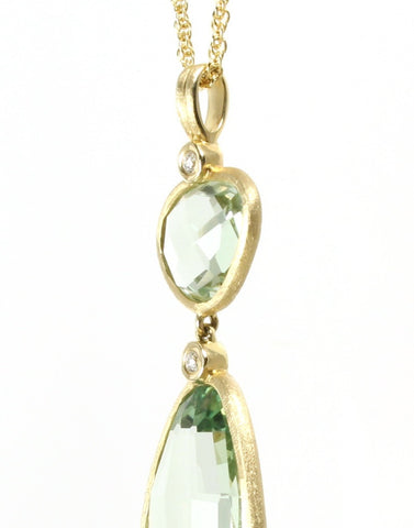 Cucumber Quartz Rock Candy Necklace by Allison Kaufman