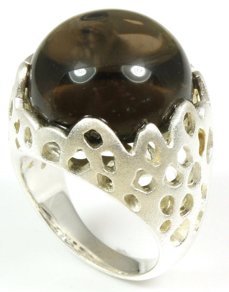 Quartz Crystal Ball Ring by Bastian-Inverun