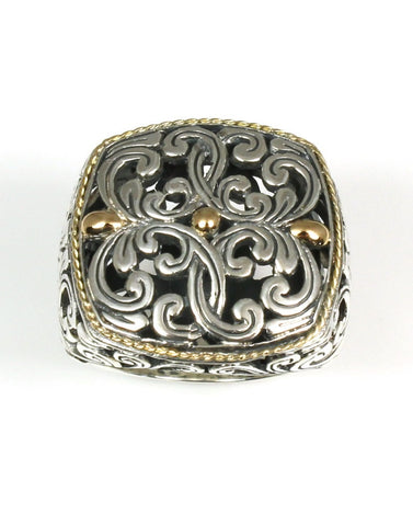 Bali Designer Square Top Ring