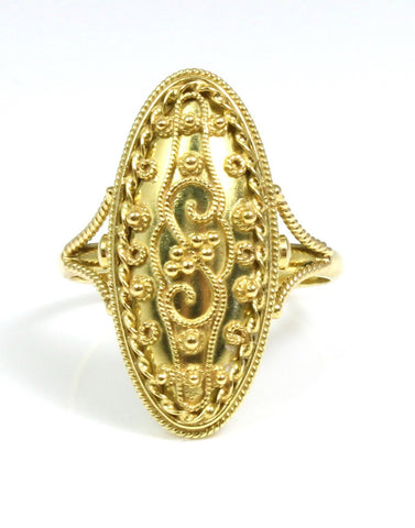 Gold, Oval Vintage Ring