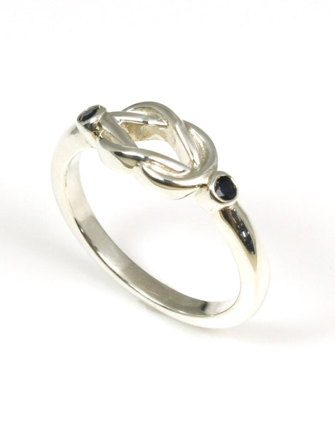 Love Knot Ring, Sapphire