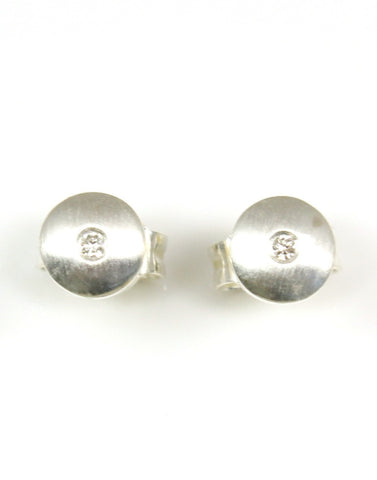 Simple Circle Diamond Earrings by Bastian-Inverun