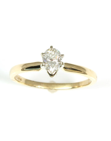 Diamond Pear .48 Carat Solitaire Ring