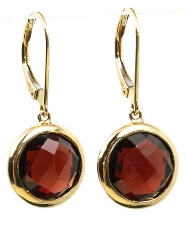 Garnet Bezel Rock Candy Drop Earrings