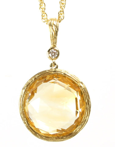 Citrine Rock Candy Pendant by Allison Kaufman