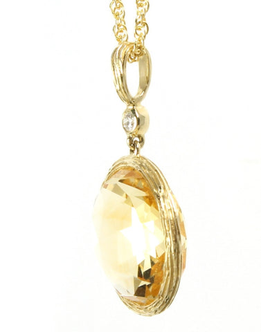 Citrine Rock Candy Pendant