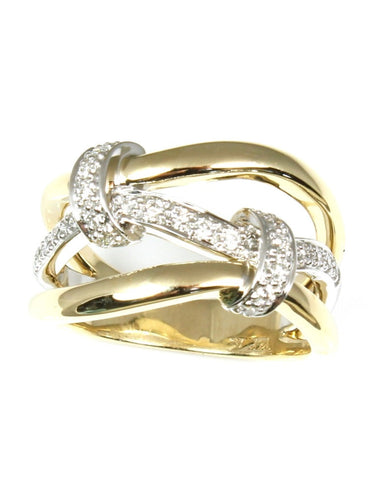 Diamond Love Knot Ring by Allison Kaufman