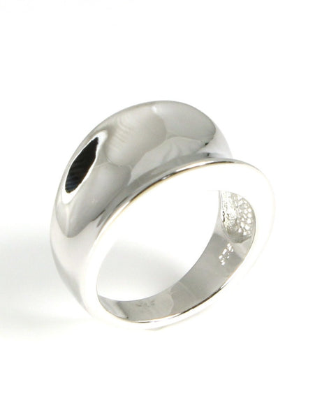 Polished Saddle Concave Ring