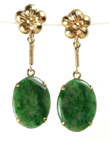 Jade Clip Earrings