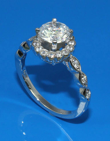 .24ctw Diamond Halo Engagement Ring Setting
