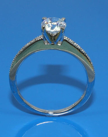 .09ctw Diamond Milgrain Engagement Ring Setting