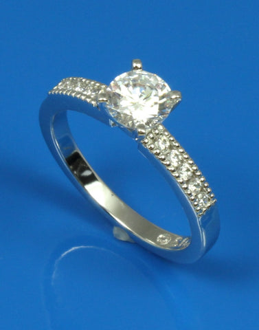 .15ctw Diamond Milgrained Engagement Ring Setting