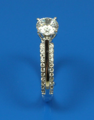 .22ctw Diamond 2 Row Engagement Ring Setting