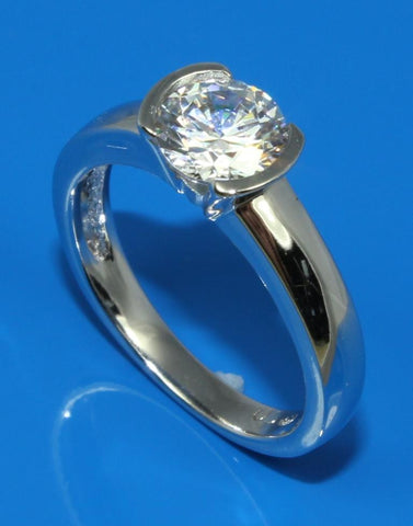 Half Bezel Diamond Ring Setting