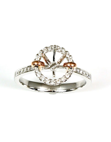 Halo Fashion Ring Setting for Round Gem by Allison Kaufman