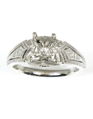 Vintage Style Diamond Ring Setting by Allison Kaufman