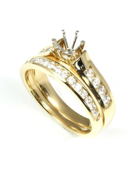 Diamond Channel Diamond Ring Mounting by Allison Kaufman