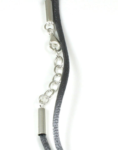 Silver Lock Grey Satin Cord