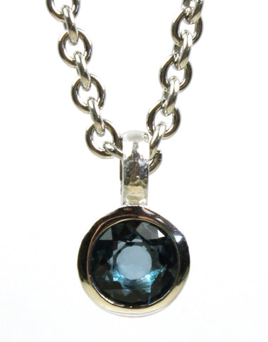 "Topaz ""London"" Bezel Pendant by Bastian-Inverun"