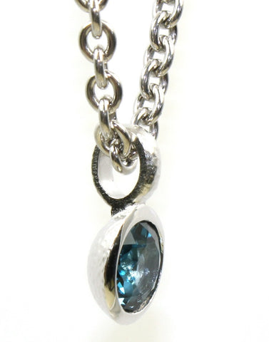 "Topaz ""London"" Bezel Pendant"