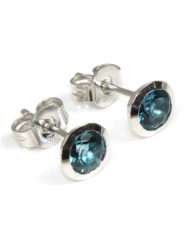 "Topaz ""London"" Bezel Earrings"