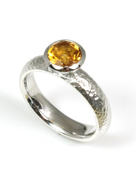 Citrine Bezel Collection Ring by Bastian-Inverun