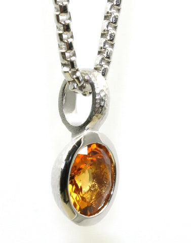 Citrine Bezel Collection Pendant by Bastian-Inverun