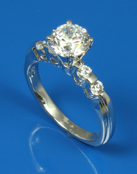 .20ctw Diamond Bar Set Engagement Ring Setting