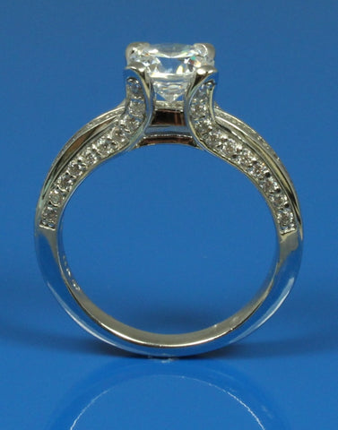 .60ctw Diamond Three Sided Engagement Ring Setting