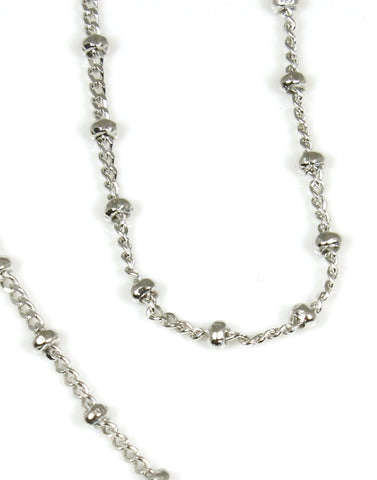 Silver Beaded Link Chain