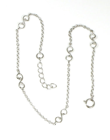 "Plain ""S"" Scroll Anklet"